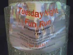 Pacers Tuesday Night Fun Run